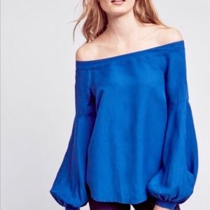 Anthropologie Floreat Mazza Off the Shoulder Top